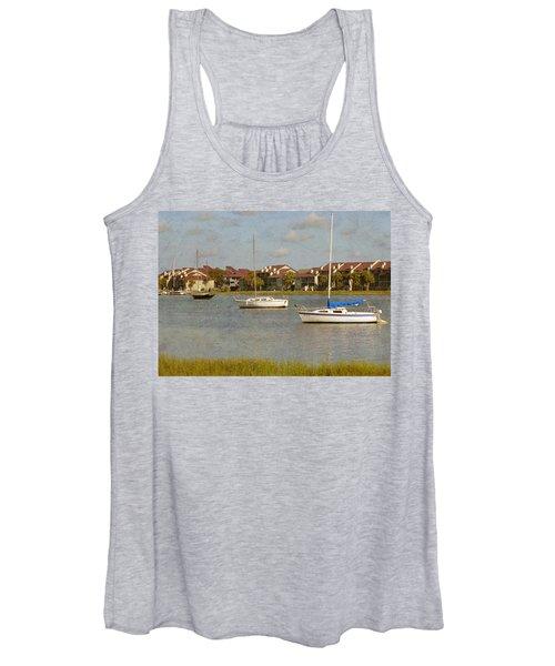 Folly Beach Boats Women's Tank Top