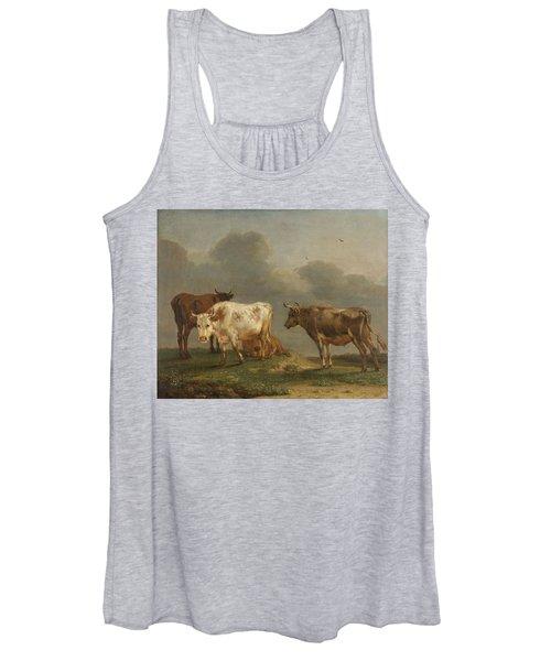 Four Cows In A Meadow Women's Tank Top