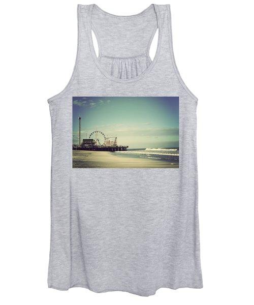 Funtown Pier Seaside Heights New Jersey Vintage Women's Tank Top
