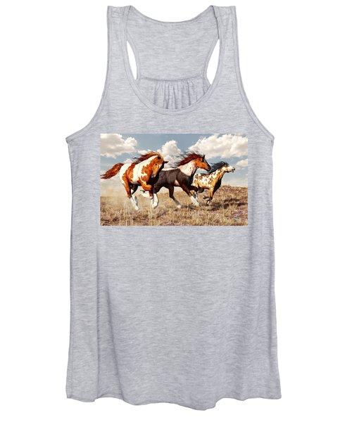 Galloping Mustangs Women's Tank Top