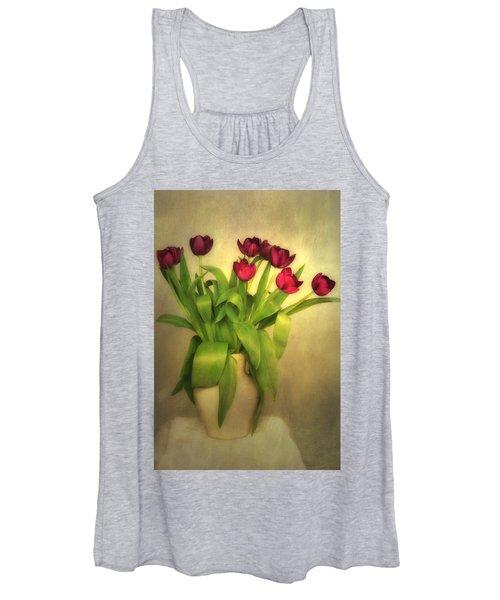 Glowing Tulips Women's Tank Top