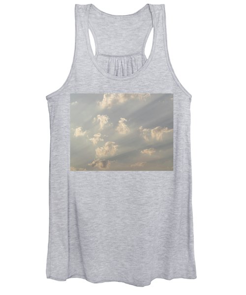 God Rays And Clouds, Okavango Delta Women's Tank Top