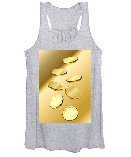 Gold Coins Women's Tank Top