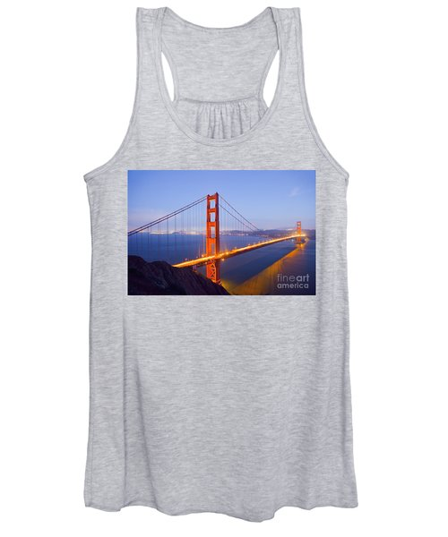 Golden Gate Bridge At Dusk Women's Tank Top