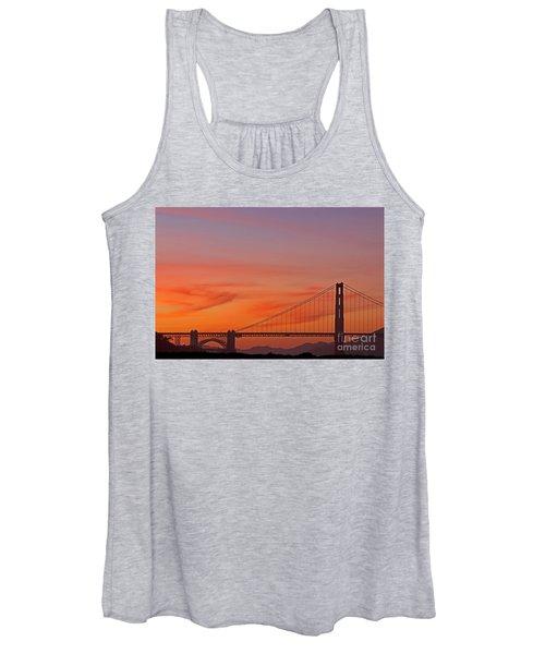 Golden Gate Sunset Women's Tank Top