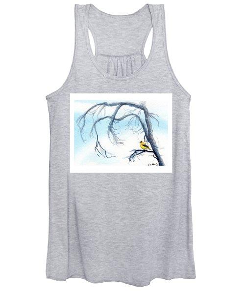 Goldfinch In Tree Women's Tank Top