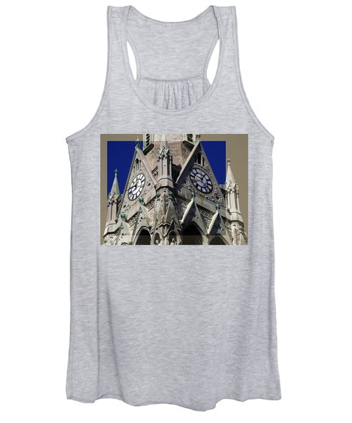 Gothic Church Clock Tower Spire Women's Tank Top