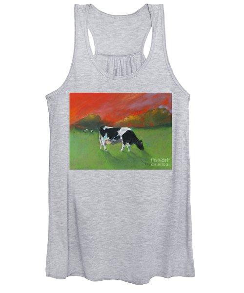 Grazing Cow Women's Tank Top