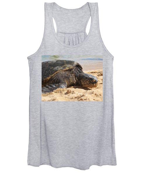 Green Sea Turtle 2 - Kauai Women's Tank Top