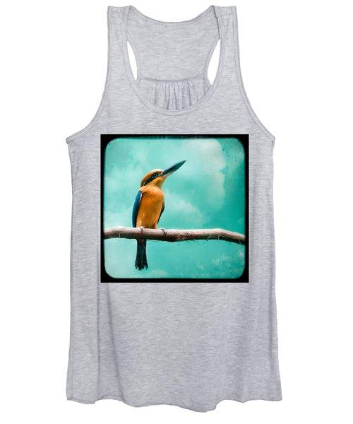 Guam Kingfisher - Exotic Birds Women's Tank Top