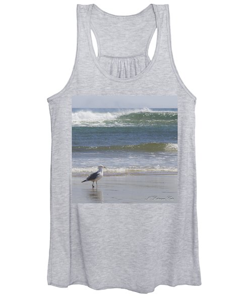 Gull With Parallel Waves Women's Tank Top