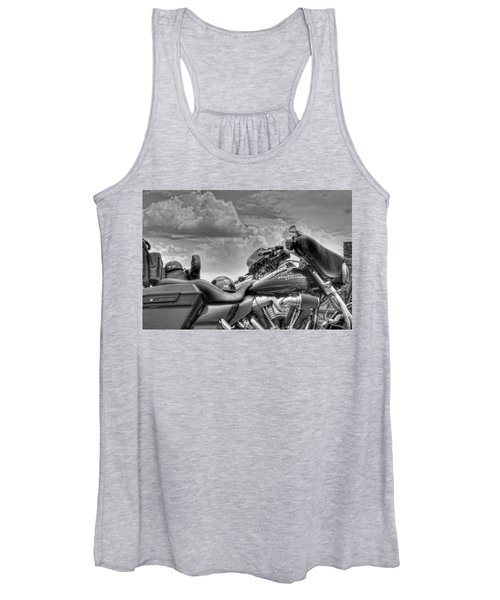 Harley Black And White Women's Tank Top