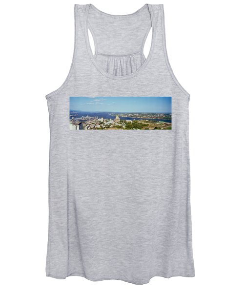 High Angle View Of A Cityscape, Chateau Women's Tank Top