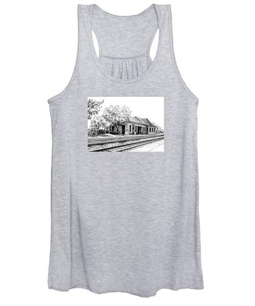 Hinsdale Train Station Women's Tank Top