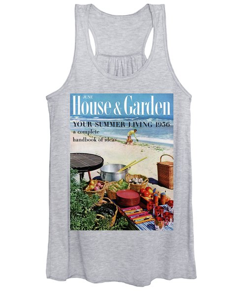 House And Garden Ideas For Summer Issue Cover Women's Tank Top