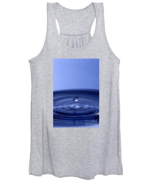 Hovering Blue Water Drop Women's Tank Top