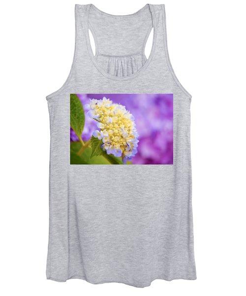 Hydrangea On Purple Women's Tank Top