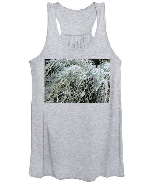 Ice On Bamboo Leaves Women's Tank Top