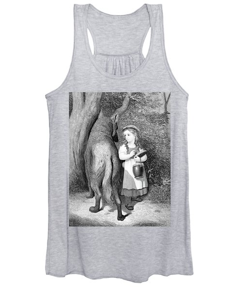 Illustration Of Little Red Riding Hood Women's Tank Top