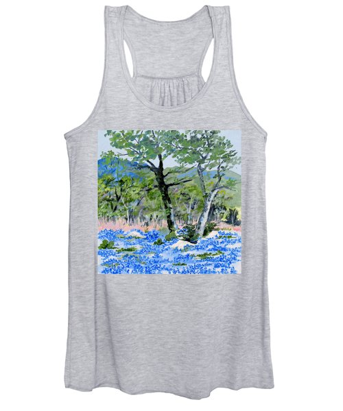 In April-texas Bluebonnets Women's Tank Top