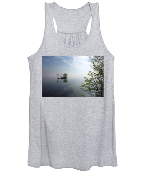 In The Distance On Mille Lacs Lake In Garrison Minnesota Women's Tank Top