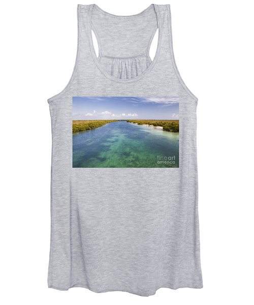 Inlet Leading To Caribbean Ocean Women's Tank Top
