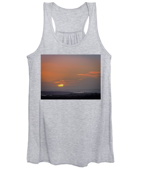 Women's Tank Top featuring the photograph Irish Sunrise Scattering Light Over Shannon River Valley by James Truett