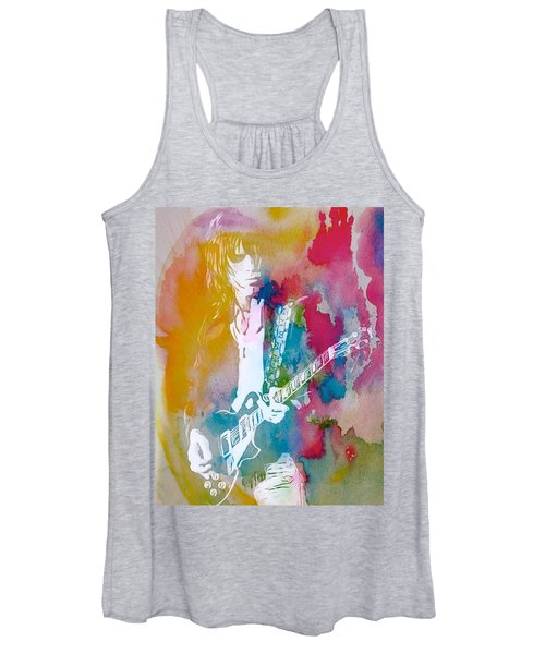 Jeff Beck Watercolor Women's Tank Top