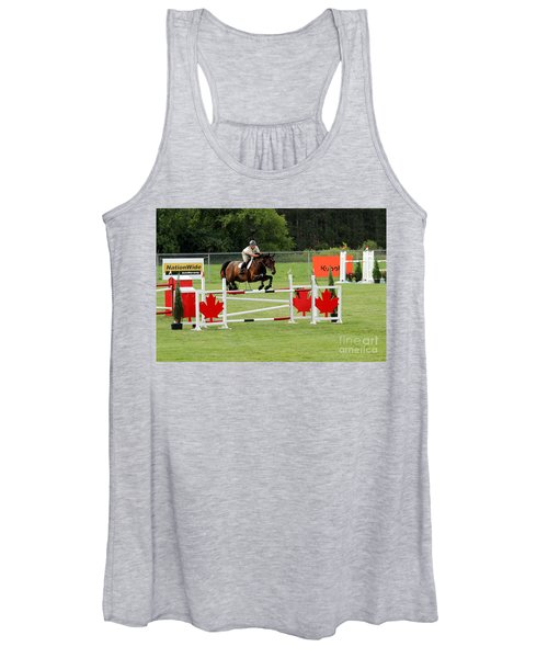 Jumping Canadian Fence Women's Tank Top