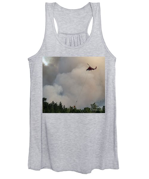 K-max Helicopter On Myrtle Fire Women's Tank Top