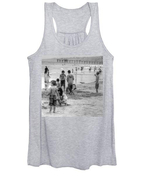 Kids At Beach Women's Tank Top
