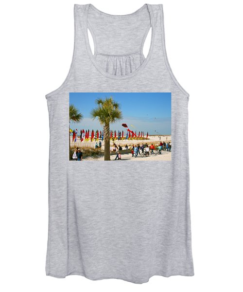 Kite Day At St. Pete Beach Women's Tank Top