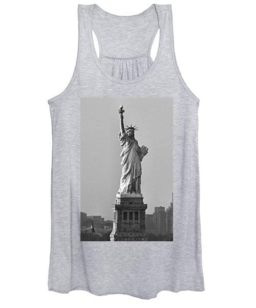 Lady Liberty Black And White Women's Tank Top