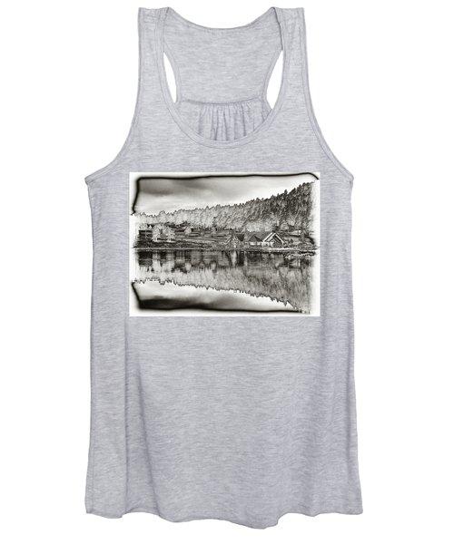 Lake House Reflection Women's Tank Top