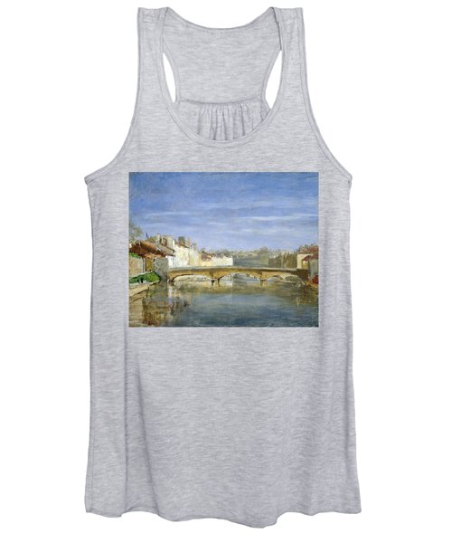 Landscape Oil On Canvas Women's Tank Top