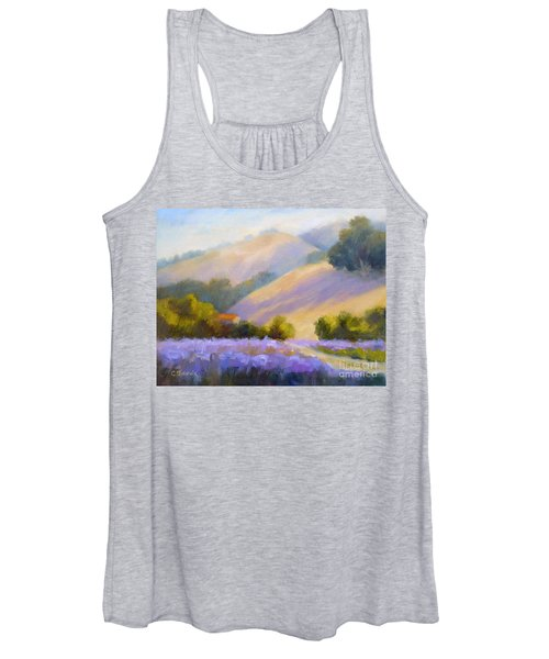 Late June Hills And Lavender Women's Tank Top