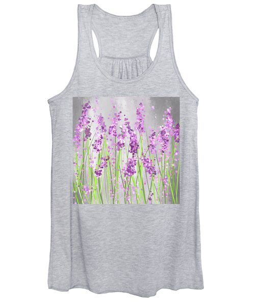 Lavender Blossoms - Lavender Field Painting Women's Tank Top