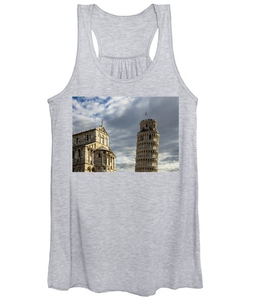Leaning Tower And Duomo Di Pisa Women's Tank Top