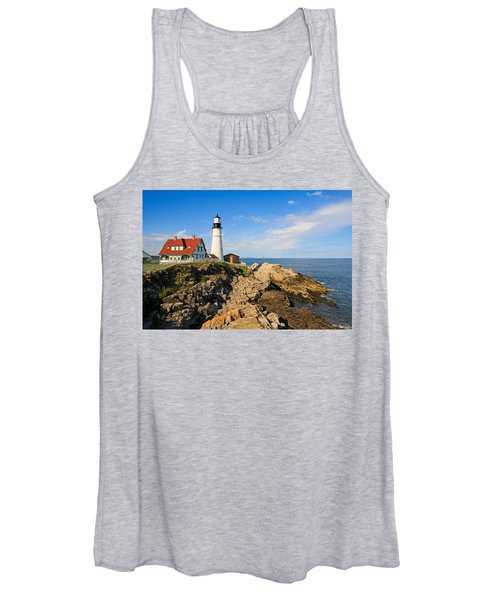 Lighthouse In The Sun Women's Tank Top