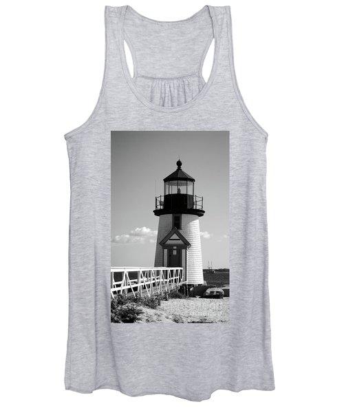Lighthouse On Nantucket Bw Women's Tank Top