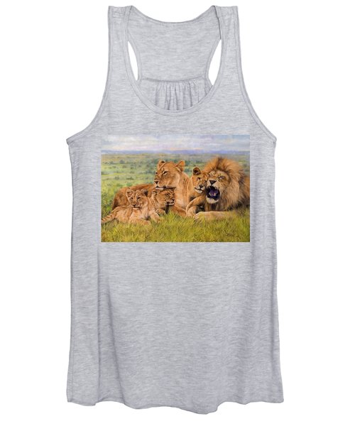 Lion Family Women's Tank Top