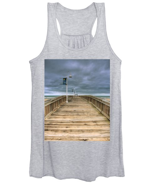 Women's Tank Top featuring the photograph Little Island Pier by Pete Federico