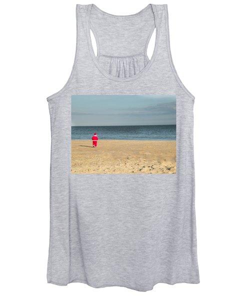 Little Santa On The Beach Women's Tank Top