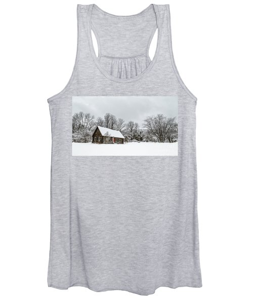 Log Cabin In The Snow Women's Tank Top