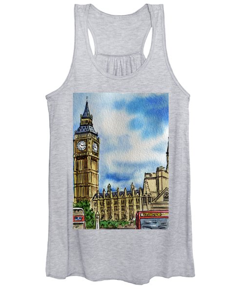 London England Big Ben Women's Tank Top