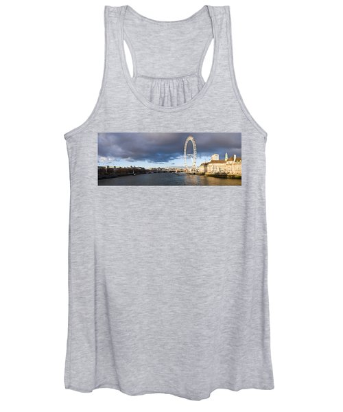London Eye At South Bank, Thames River Women's Tank Top