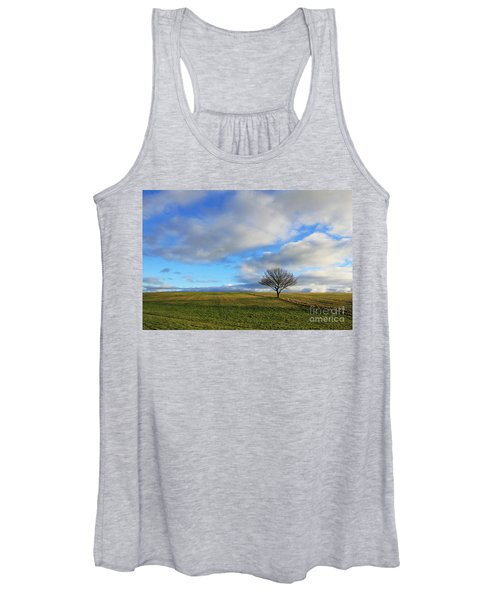 Lone Tree At Epsom Downs Uk Women's Tank Top