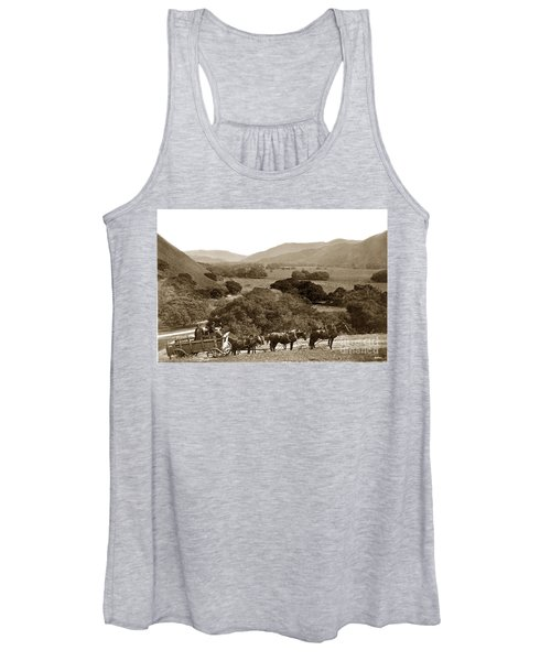 Looking Up The Carmel Valley California Circa 1880 Women's Tank Top