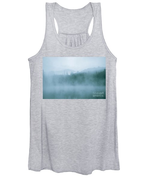 Lost In Fog Over Lake Women's Tank Top