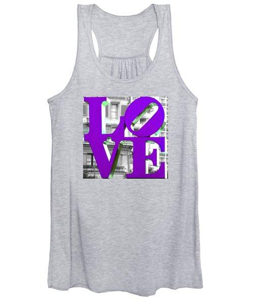 Love Philadelphia Purple Women's Tank Top